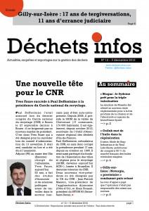 Déchets Infos n° 12 — 5décembre 2012