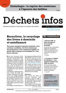 Déchets Infos n° 21 — 17 avril 2013