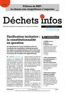 Déchets Infos n° 23 — 22 mai 2013