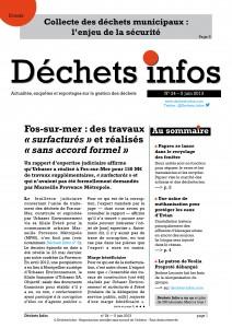 Déchets Infos n°24 — 5juin 2013