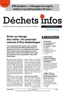 Déchets Infos n° 28 — 28août 2013