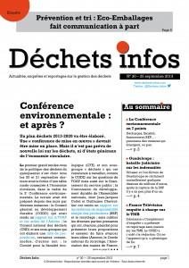 Déchets Infos n° 30 — 25 septembre 2013