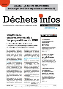 Déchets Infos n° 29 — 11 septembre 2013