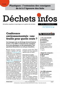 Déchets Infos n°31 — 9 octobre 2013