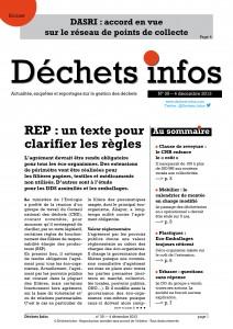 Déchets Infos n° 35 — 4 décembre 2013