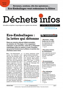 Déchets Infos n° 36 — 18 décembre 2013