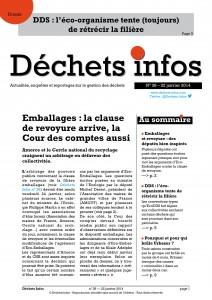 Déchets Infos n° 38 — 22 janvier 2014