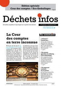 Edition spéciale – Publication du rapport <br/>de la Cour des comptes sur Eco-Emballages