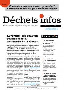 Déchets Infos n° 41 — 5 mars 2014