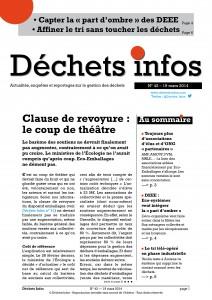 Déchets Infos n° 42 — 19 mars 2014