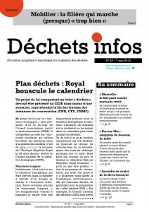 Déchets Infos n° 45 — 7 mai 2014