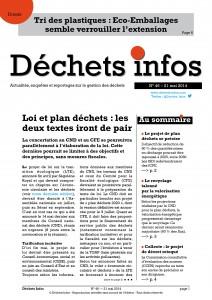Déchets Infos n° 46 — 21 mai 2014
