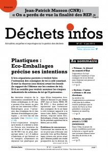 Déchets Infos n° 47 — 4 juin 2014