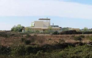 Photomontage du (peut-être) futur incinérateur d'Echillais. Ségolène Royal ne veut plus en entendre parler.