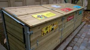 Paris estime que la collecte sélective des biodéchets sera complémentaire du compostage de proximité. Ici, un site de compostage public, dans le 12e arrondissement.