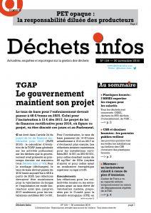 Déchets Infos n° 104 — 30 novembre 2016