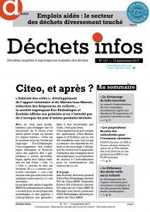 Déchets Infos n° 121 — 13 septembre 2017