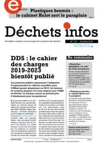 Déchets Infos n° 142 — 18 juillet 2018