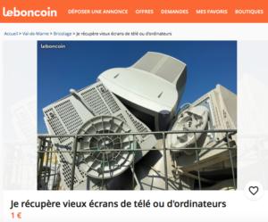 Vers un meilleur contrôle des annonces «déchets» sur Le Bon Coin ?
