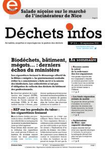 Déchets Infos n°214 — 22 septembre 2021